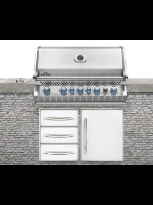 Prestige Pro665, rustfri stål indbygnings gas grill
