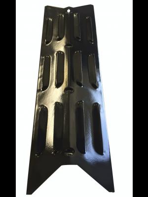 Varmefordeler plade i sort lakeret stål